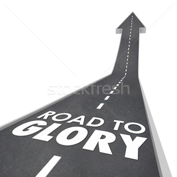 Weg glorie woorden roem beroemdheid vip Stockfoto © iqoncept