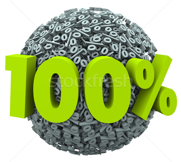 100 procent bal bol compleet perfect Stockfoto © iqoncept