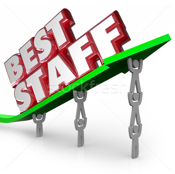 Best Staff Top Winning Team Workforce Employees Lifting Arrow Stock photo © iqoncept