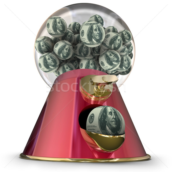 Money Gum Ball Machine Dispenser Easy Loan Borrow Funds Credit Stock photo © iqoncept