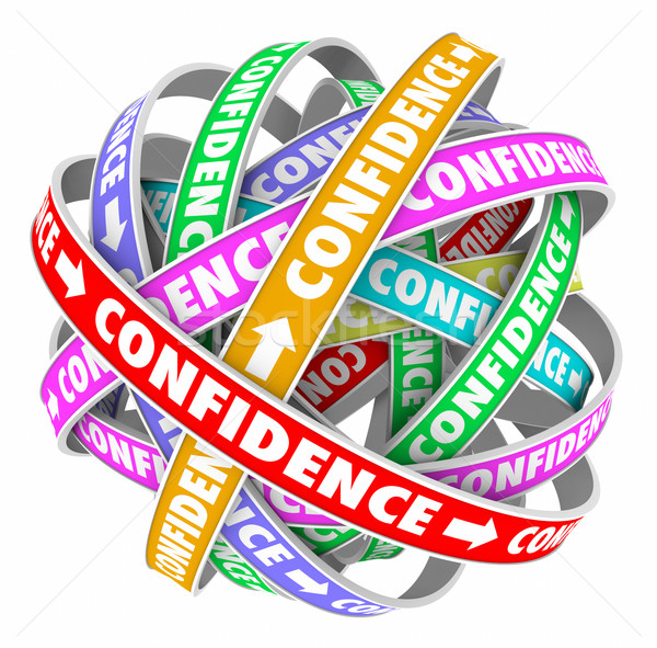 Confidence Word Circular Pattern Self Assured Determination Stock photo © iqoncept