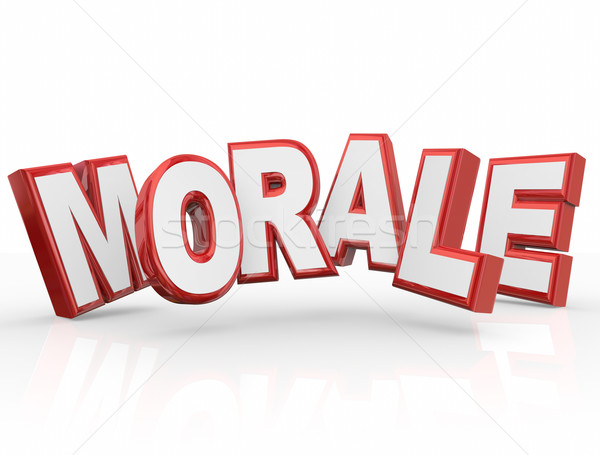 Morale 3d Word Company Worker Team Spirit Attitude Mood Stock photo © iqoncept