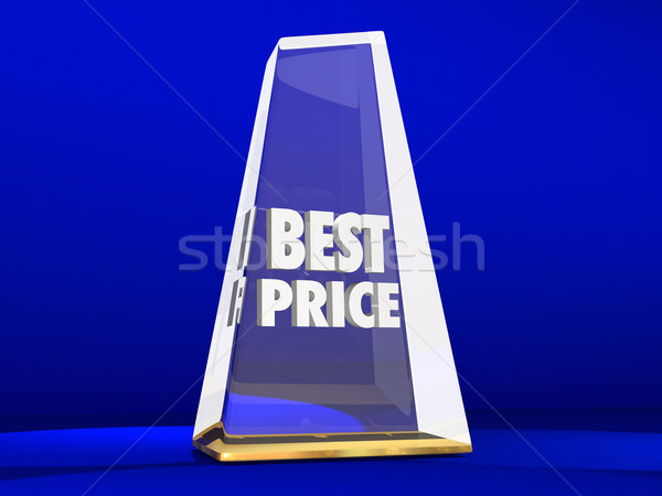 Best Price Lowest Cost Value Deal Sale Award Trophy Stock photo © iqoncept