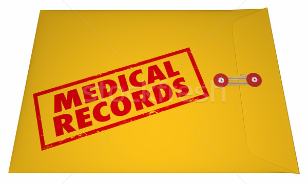Medical Records Private Patient Documents Files Sensitive Inform Stock photo © iqoncept