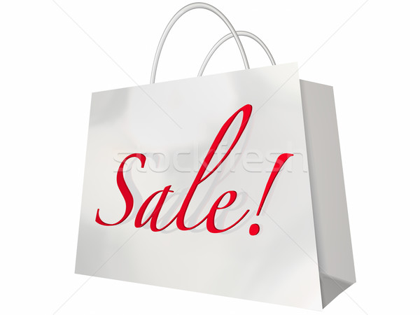 Sale Shopping Bag Customer Store Event Save Money Stock photo © iqoncept