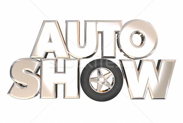 Auto шоу новых модель автомобилей Сток-фото © iqoncept