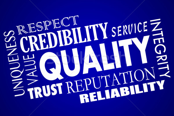 Quality Reputation Value Respect Competitive Advantage Word Coll Stock photo © iqoncept