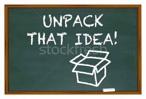 Idea significado tiza bordo 3d educación Foto stock © iqoncept