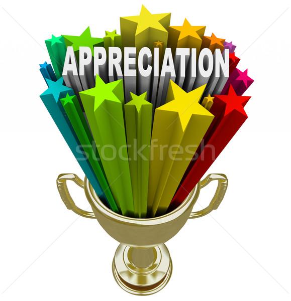 Uznanie nagrody wysiłek lojalność pracownika Zdjęcia stock © iqoncept