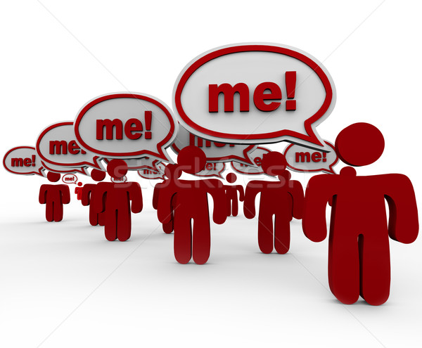 Many People Shouting Me to Stand Out in a Crowd Stock photo © iqoncept