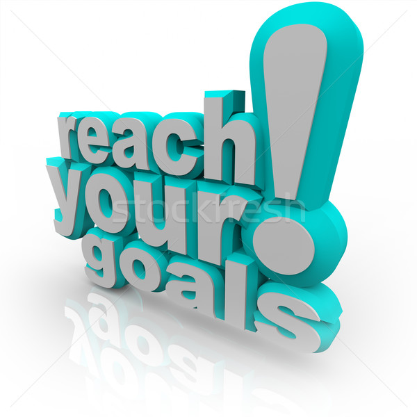 Reach Your Goals - 3D Words Encourage You to Succeed Stock photo © iqoncept