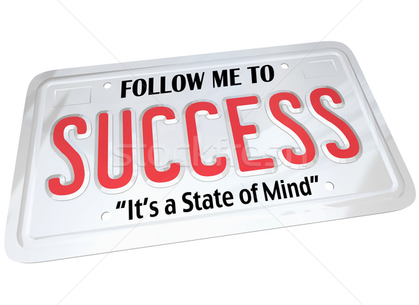 Success Word on License Plate Follow to Successful Future Stock photo © iqoncept