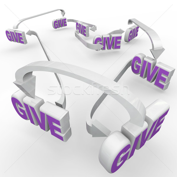Give Words Connected Fund-Raising Spreading the Word Stock photo © iqoncept