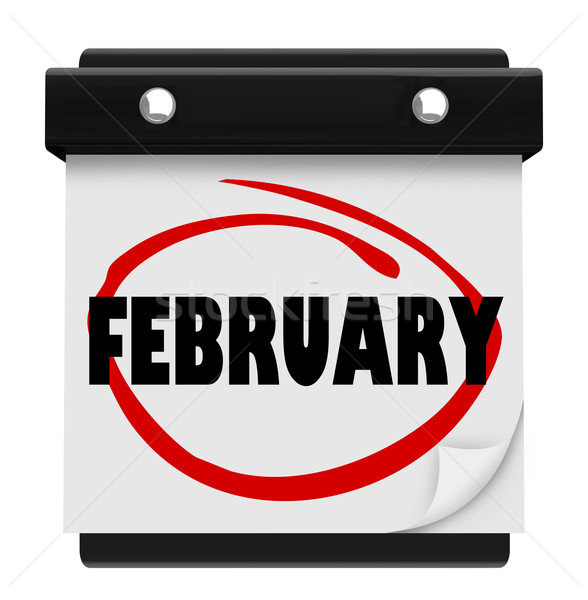 February Month Word Wall Calendar Remember Schedule Stock photo © iqoncept