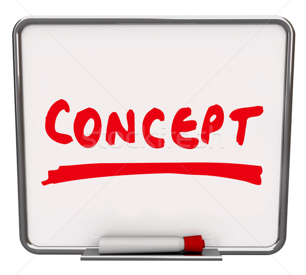 Concept Word Dry Erase Board New Innovative Idea Stock photo © iqoncept
