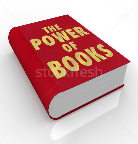 The Power of Books Words on Book Cover Importance Reading Stock photo © iqoncept
