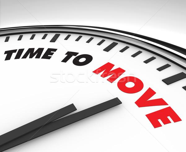 Сток-фото: время · двигаться · часы · белый · слов · фон