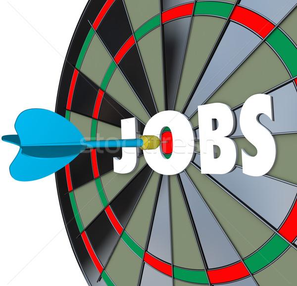 Jobs Career Dartboard Dart Successful Employment Stock photo © iqoncept