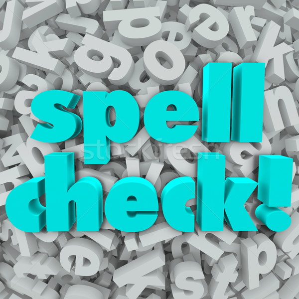 Spell Check Letter Background Correct Spelling Words Stock photo © iqoncept