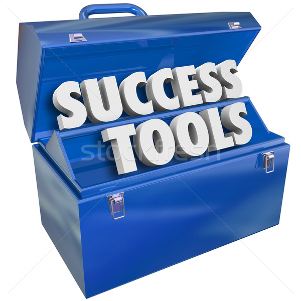 Success Tools Toolbox Skills Achieving Goals Stock photo © iqoncept