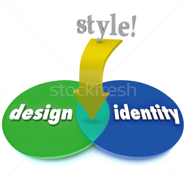 Style Overlapping Area Venn Diagram Design Identity Unique Look Stock photo © iqoncept