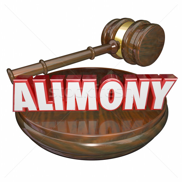Alimony 3D Word Judge Gavel Legal Court Case Settlement Stock photo © iqoncept