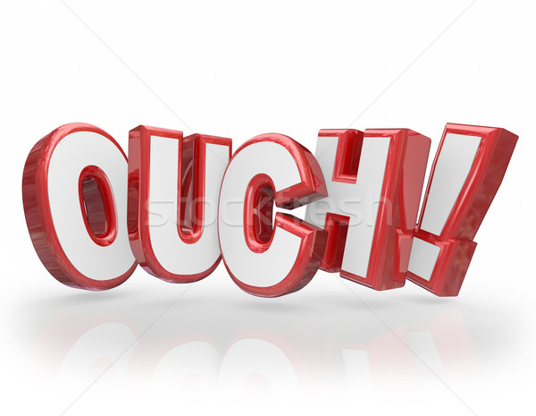 Ouch 3D Words Red Letters Pain Injury Hurting Stock photo © iqoncept
