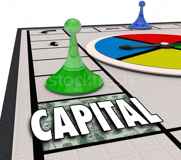Capital Word Board Game Win Financing Funding Business Startup Stock photo © iqoncept