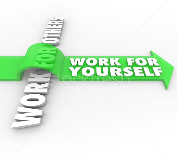 作業 あなた自身 対 雇用 独自の ストックフォト © iqoncept