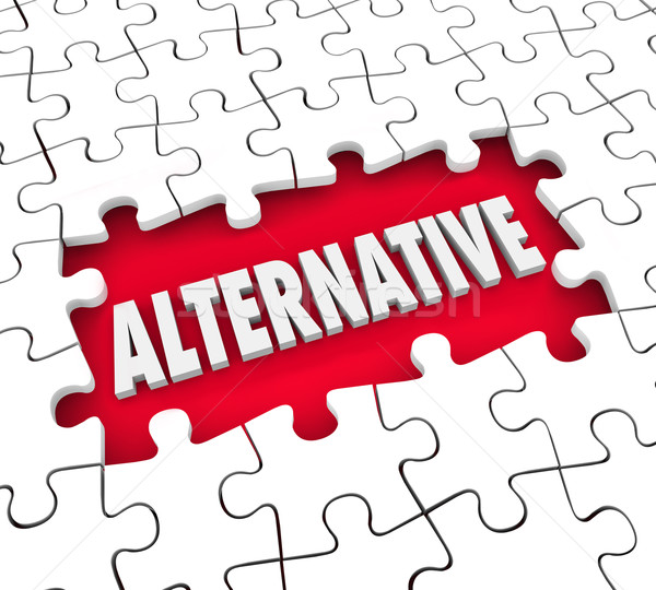 Alternative Plan Different Option Alertnate Idea Solution Puzzle Stock photo © iqoncept