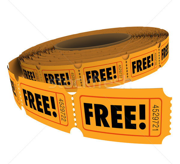 Free Complimentary Ticket Roll Enter Win Contest Raffle No Charg Stock photo © iqoncept