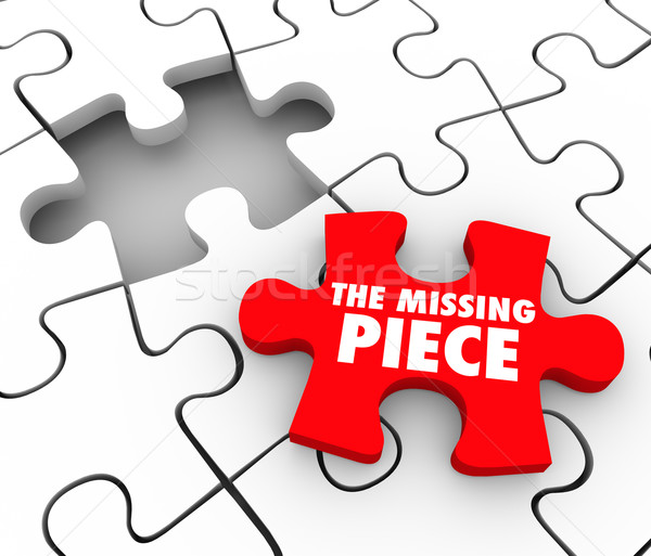 The Missing Piece Found Puzzle Complete Finishing Finding Lost F Stock photo © iqoncept
