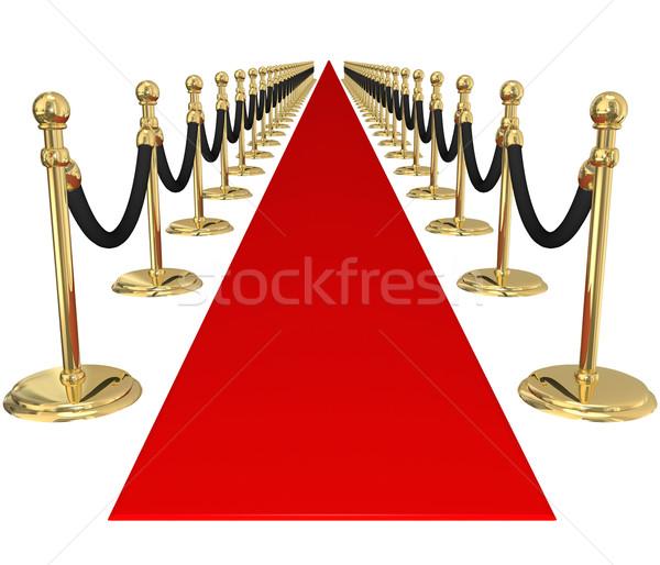 Alfombra roja oro exclusivo vip fiesta evento Foto stock © iqoncept