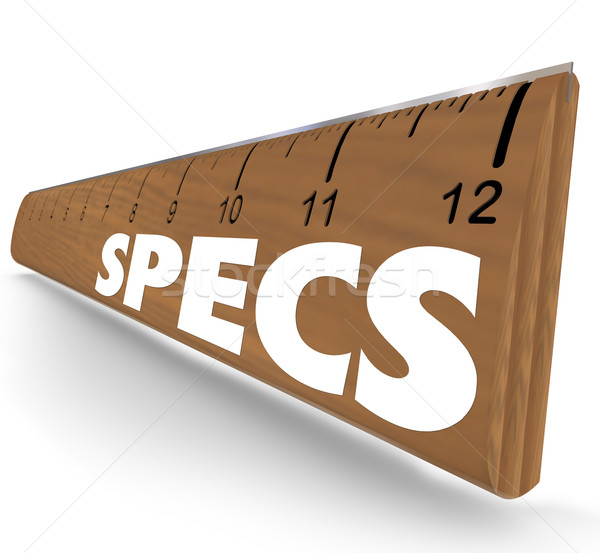 Specs Word Ruler Specifications Requirements Instructions Stock photo © iqoncept