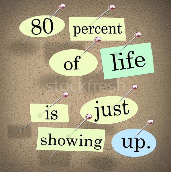 до 80 процент жизни вверх Сток-фото © iqoncept