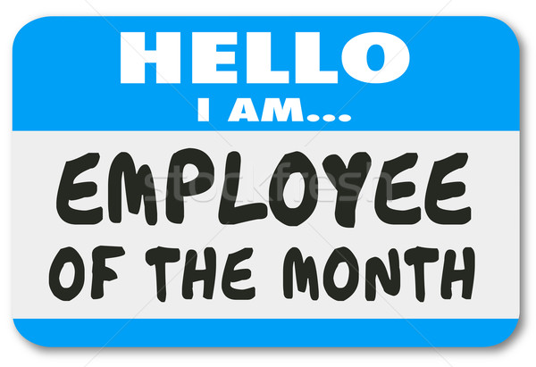 Employee of the Month Name Tag Sticker Best Top Worker Stock photo © iqoncept
