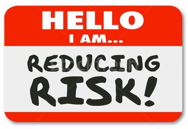 Hallo risico sticker gevaar Stockfoto © iqoncept