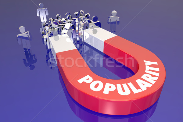 Popularity Magnet Word Pulling Attracting People Audience Viewer Stock photo © iqoncept