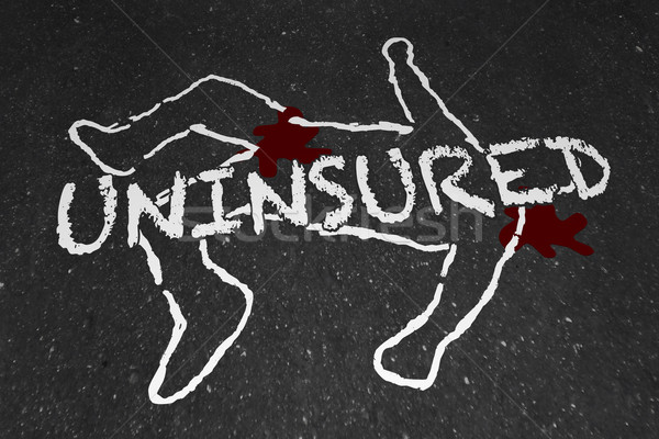 Uninsured Medical Insurance Accident Injury Chalk Outline Illust Stock photo © iqoncept
