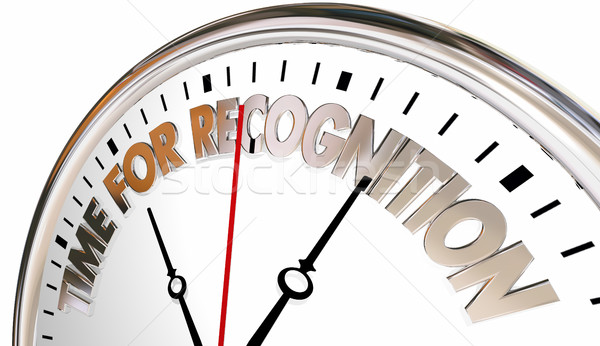 Time for Recognition Appreciation Thank You Clock 3d Illustratio Stock photo © iqoncept