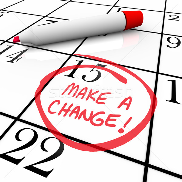 Make a Change - Day Circled on Calendar Stock photo © iqoncept