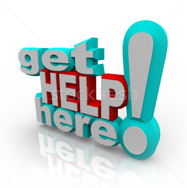 Get Help Here - Customer Support Service Solutions Stock photo © iqoncept