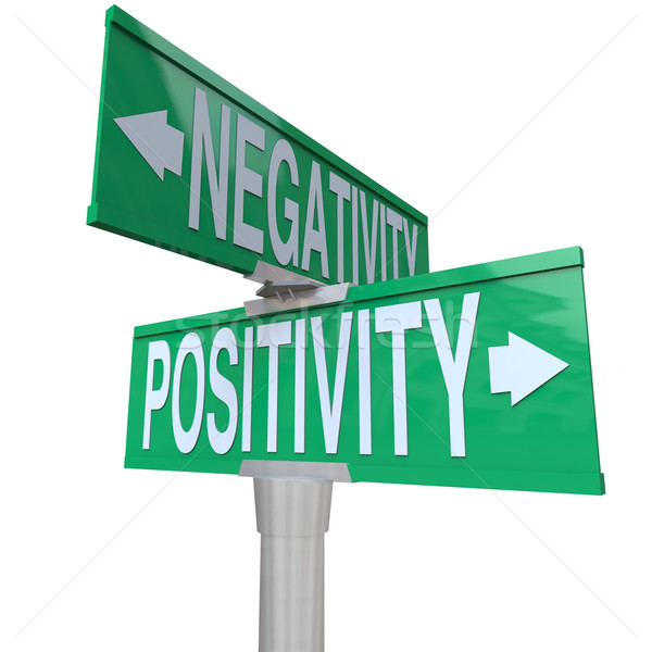 Positivity vs Negativity - Two-Way Street Sign Stock photo © iqoncept