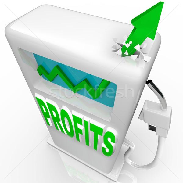 Profits Rising - Growth Arrow on Gas Pump Stock photo © iqoncept