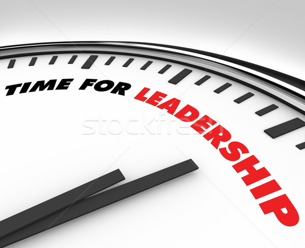 Time for Leadership - Clock Stock photo © iqoncept