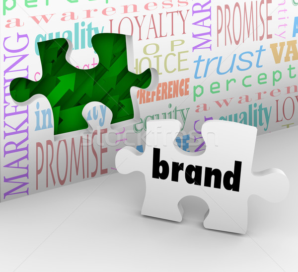Brand Puzzle Piece Marketing Strategy Answer Completed Stock photo © iqoncept