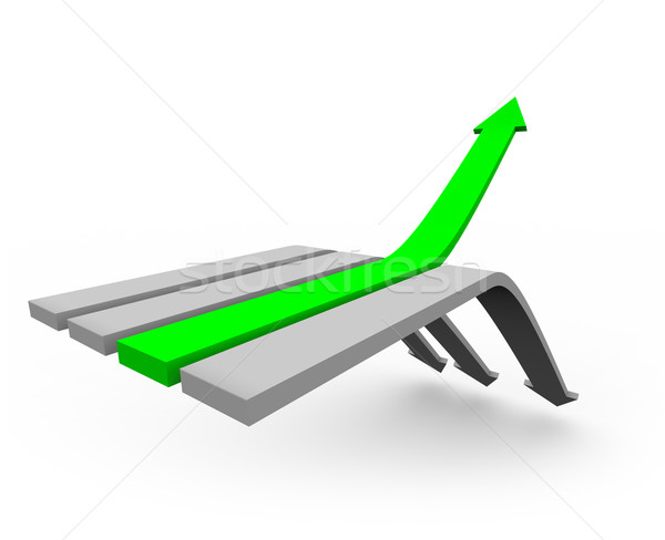 Arrow Up to Success 2 Stock photo © iqoncept