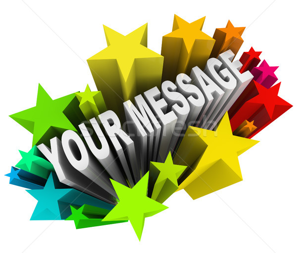 Your Message in Fun Exciting Starburst Fireworks Stock photo © iqoncept