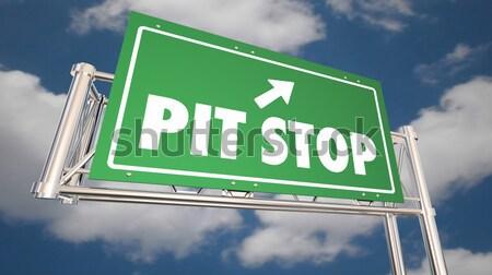 Freeway знак инфляция зеленый слово стрелка Сток-фото © iqoncept