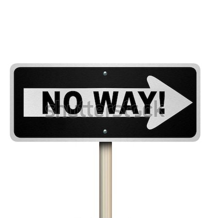 One Way Road Sign - Isolated Stock photo © iqoncept